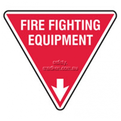 View 832803 Fire Fighting Equipment Sign Triangular details.