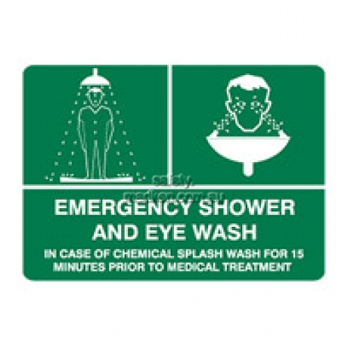 View Emergency Shower and Eye Wash Sign details.
