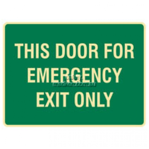 View Brady 832729 This Door For Emergencies Only Sign  details.