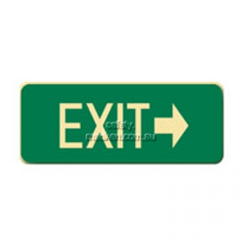 View Brady 843306 Exit With Right Arrow Floor Sign details.