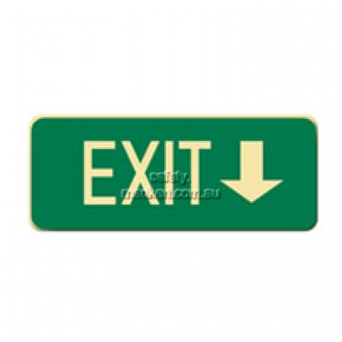 View Brady 843310 Exit Arrow Down Floor Sign details.