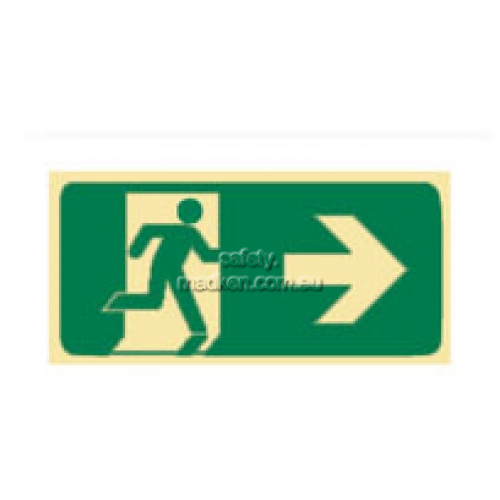 View Brady 853361 Running Man Right Arrow Glow Exit Floor Sign details.