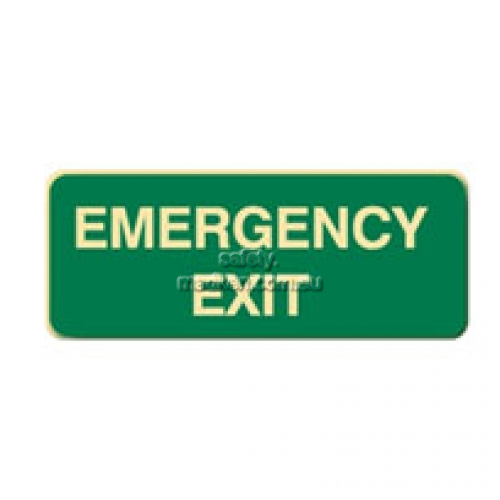 View Emergency Exit Floor Sign details.