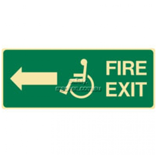 View Fire Exit Sign Accessible DIrection details.