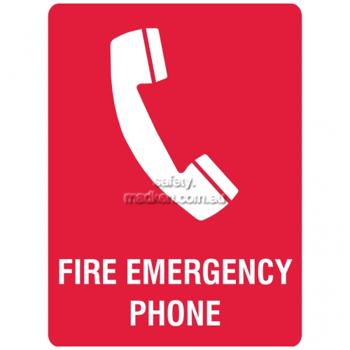 View Fire Emergency Phone Sign details.