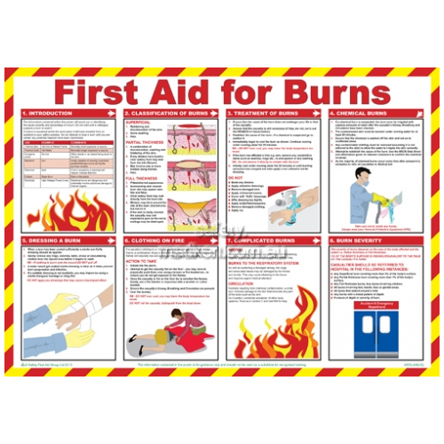 View Workplace Safety Poster - First Aid For Burns details.