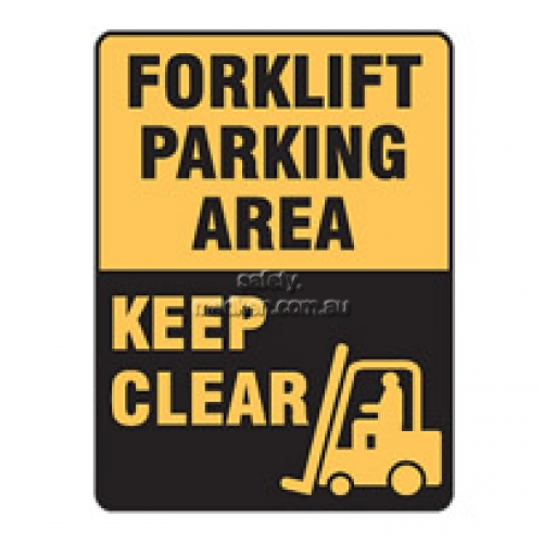 View Forklift Parking Area Keep Clear Sign details.