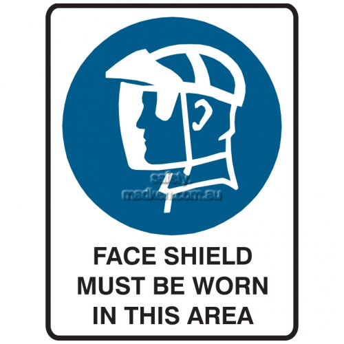 View Face Shield Must Be Worn In This Area details.
