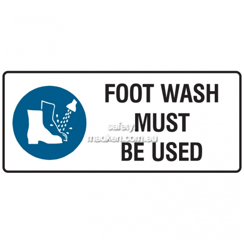 View Foot Wash Must Be Worn details.