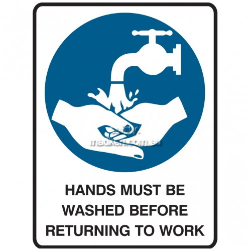 View Hands Must Be Washed Before Returning To Work details.
