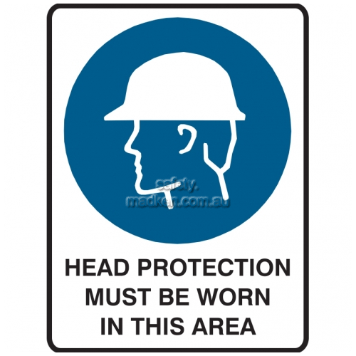 View Head Protection Must Be Worn In This Area details.