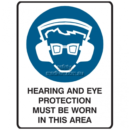 View Hearing and Eye Protection Must Be Worn In This Area details.