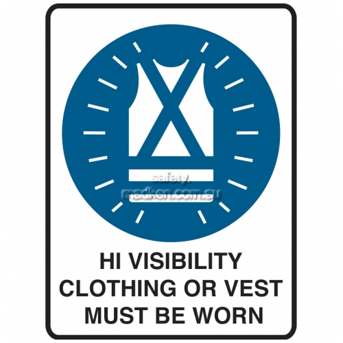 Hi Visibility Clothing Or Vest Must Be Worn