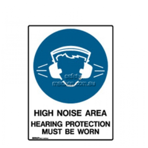 View High Noise Area Hearing Protection Must Be Worn details.