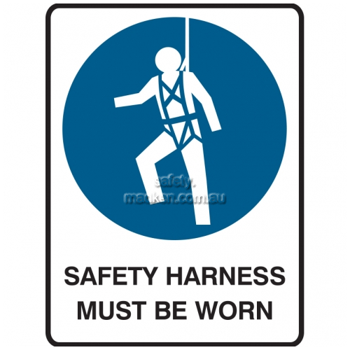 View Safety Harness Must Be Worn details.