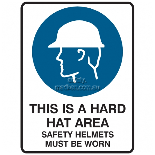 View This is a Hard Hat Area, Safety Helmets Must Be Worn details.