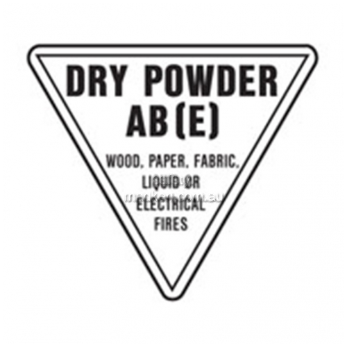 View Dry Powder AB(E) Fire Extinguisher Sign details.