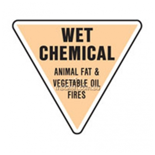View Wet Chemical Fire Extinguisher Sign details.