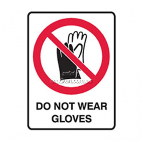 View Brady 832155	Do Not Wear Gloves Prohibition details.