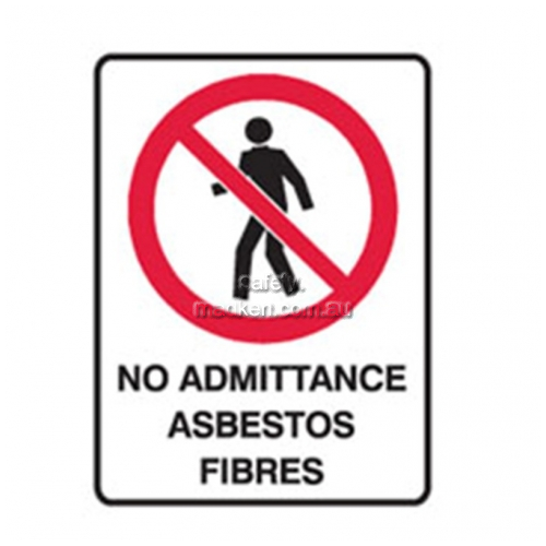 View Brady 834014	No Admittance Asbestos Fibres Prohibition details.