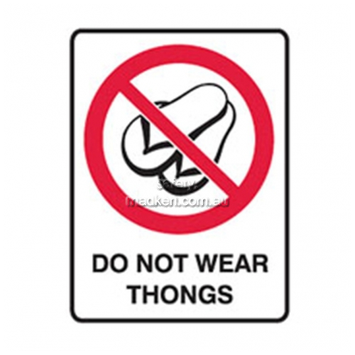 View Brady 838199 Do Not Wear Thongs Prohibition  details.