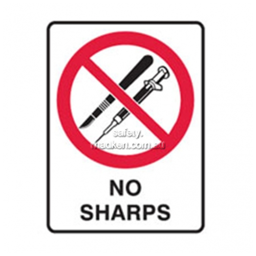 View Brady Prohibition 840167 No Sharps Sign  details.