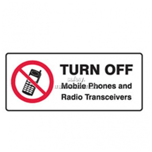 View Turn Off Mobile Phones and Radio Transceivers Sign details.