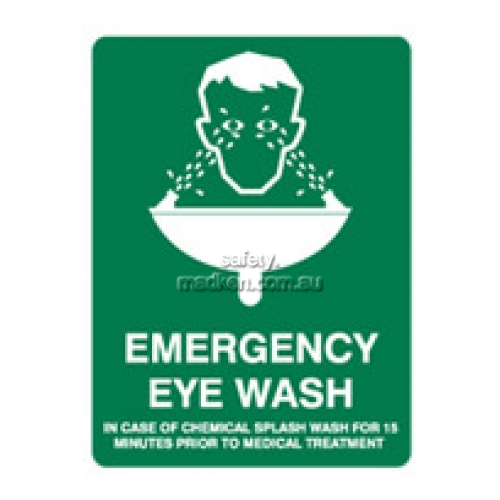 View Emergency Eye Wash Safety Sign details.