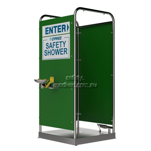 View Platform Shower and Eye Face Wash, Multi 16 Spray, 3 Side Panels details.