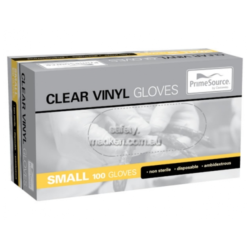 View Gloves Vinyl Powdered Clear Small clear details.