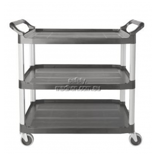 View 4091 Utility Cart 3 Shelf, Open Sided details.