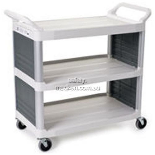 View 4092 Utility Cart with Enclosed 2-Side Panels details.