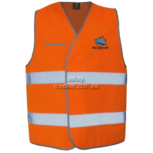 Vest with Reflective Tape Orange