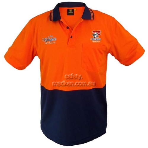 View Hi Vis Short Sleeve Polo Orange details.
