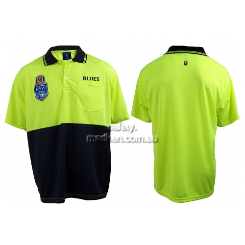 NSW Blues Hi-Vis Polo