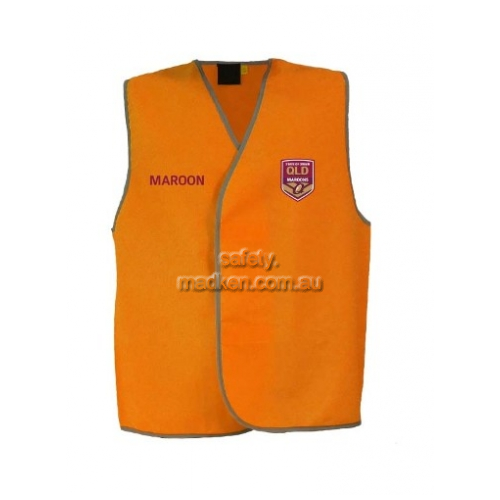 QLD Maroons Hi-Vis Light Weight Vest Orange