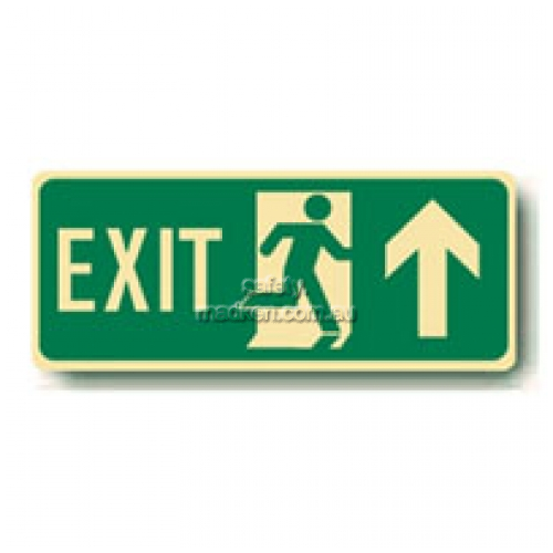 View Exit Floor Sign, Running Man Arrow Up details.