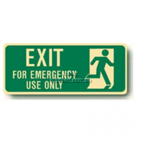 View Exit Floor Sign, Running Man Emergency Exit details.