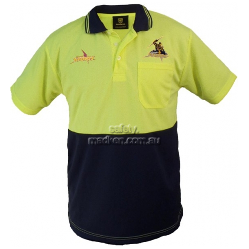 Hi-Vis Short Sleeve Polo Yellow